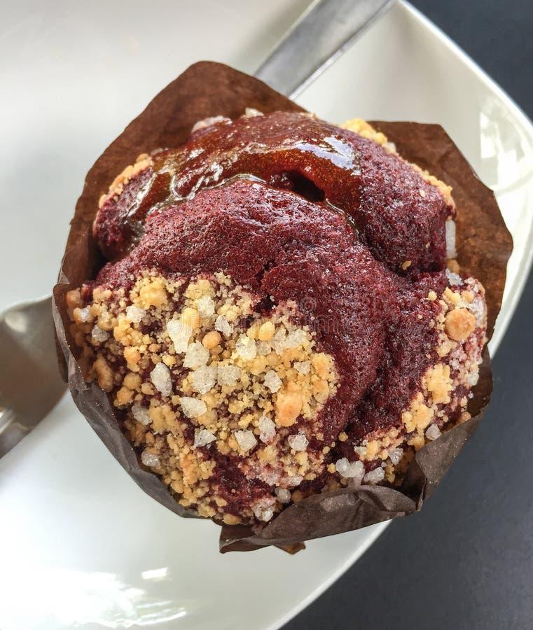 Красный торт булочки стоковое фото