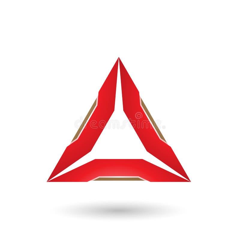 Красный треугольник с бежевой иллюстрацией вектора краев бесплатная иллюстрация