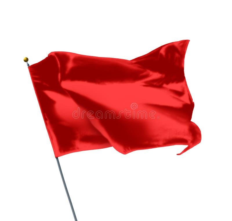 Красный флаг модель-макета стоковое фото rf
