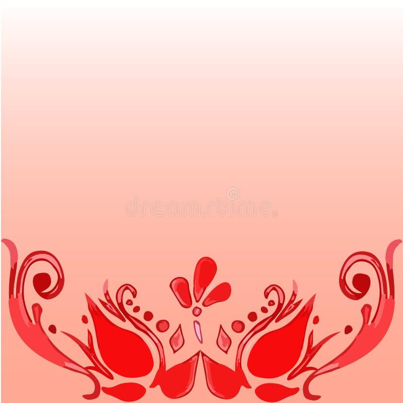 Красный флористический элемент стоковые фото