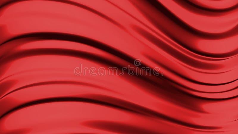 красный цвет абстрактной предпосылки жидкостный иллюстрация штока