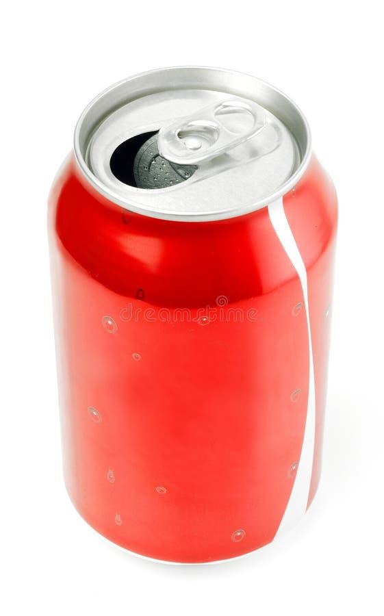 красный цвет алюминиевой чонсервной банкы стоковое фото rf