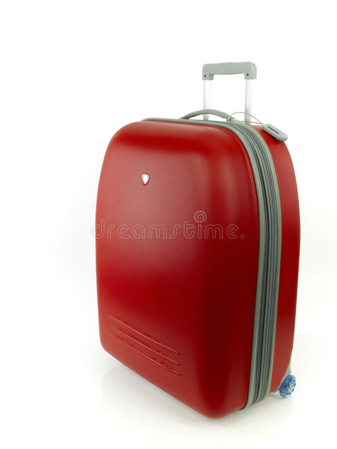красный цвет багажа стоковые изображения