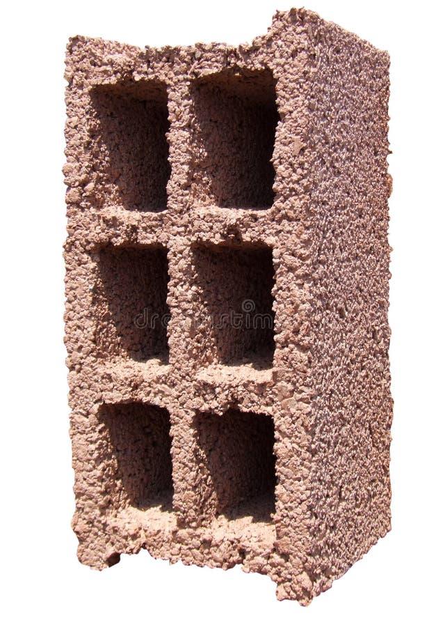 красный цвет блока конкретный померанцовый стоковое изображение rf