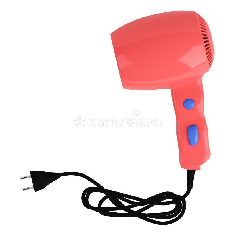 красный цвет более сухих волос иллюстрация вектора