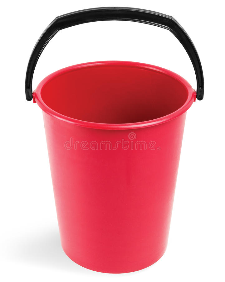 красный цвет ведра стоковое изображение