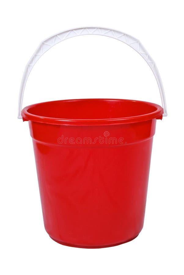 красный цвет ведра стоковые изображения