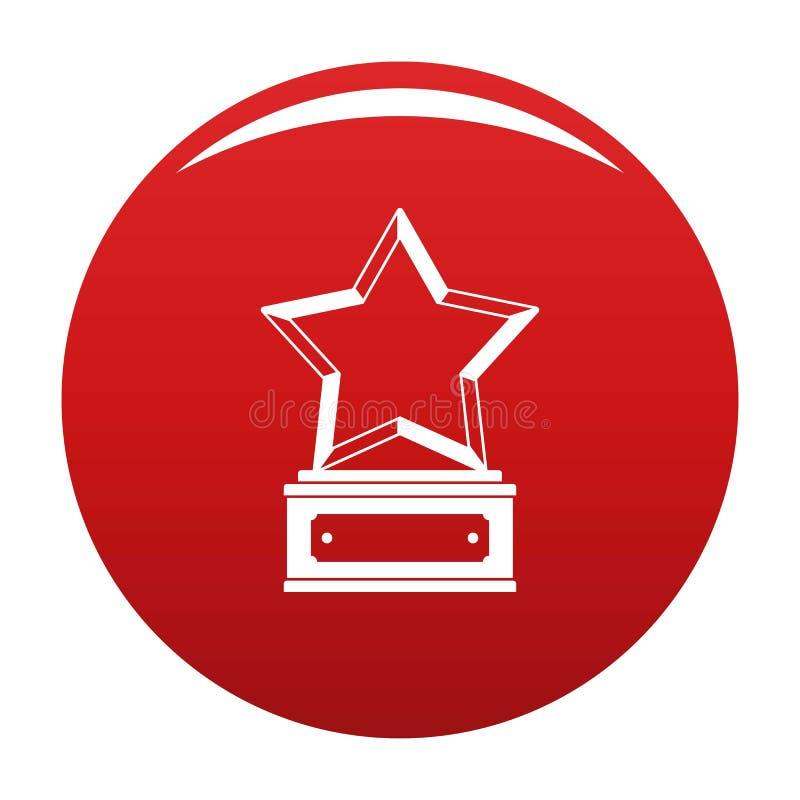 Красный цвет вектора значка награды звезды бесплатная иллюстрация