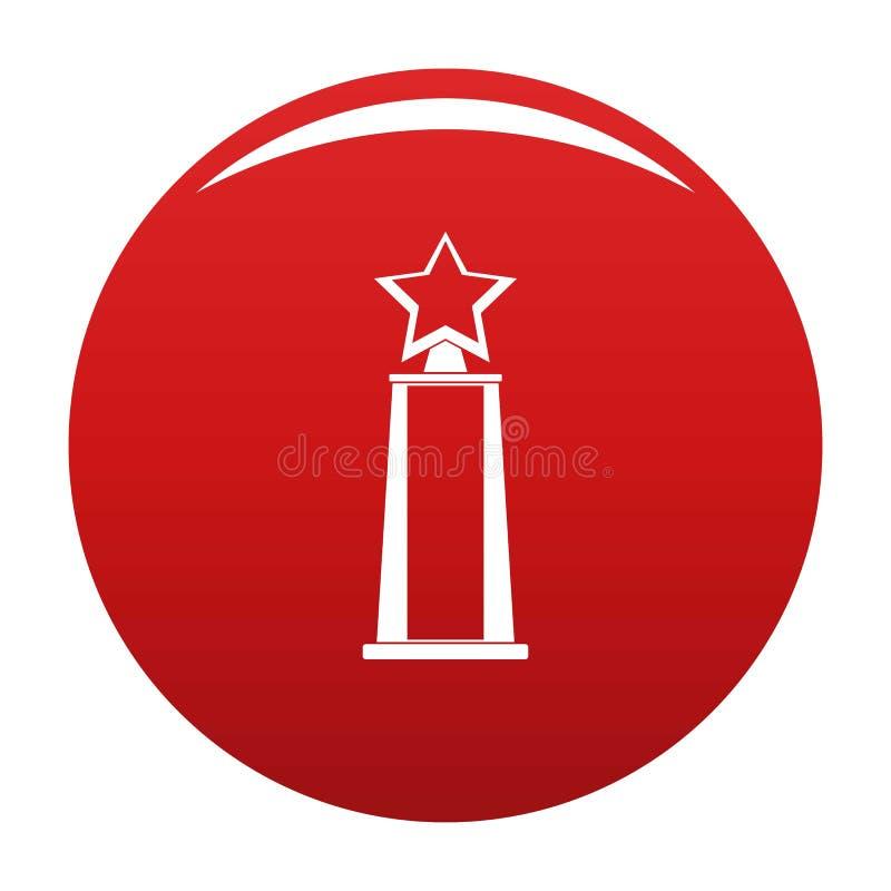 Красный цвет вектора значка награды звезды иллюстрация вектора
