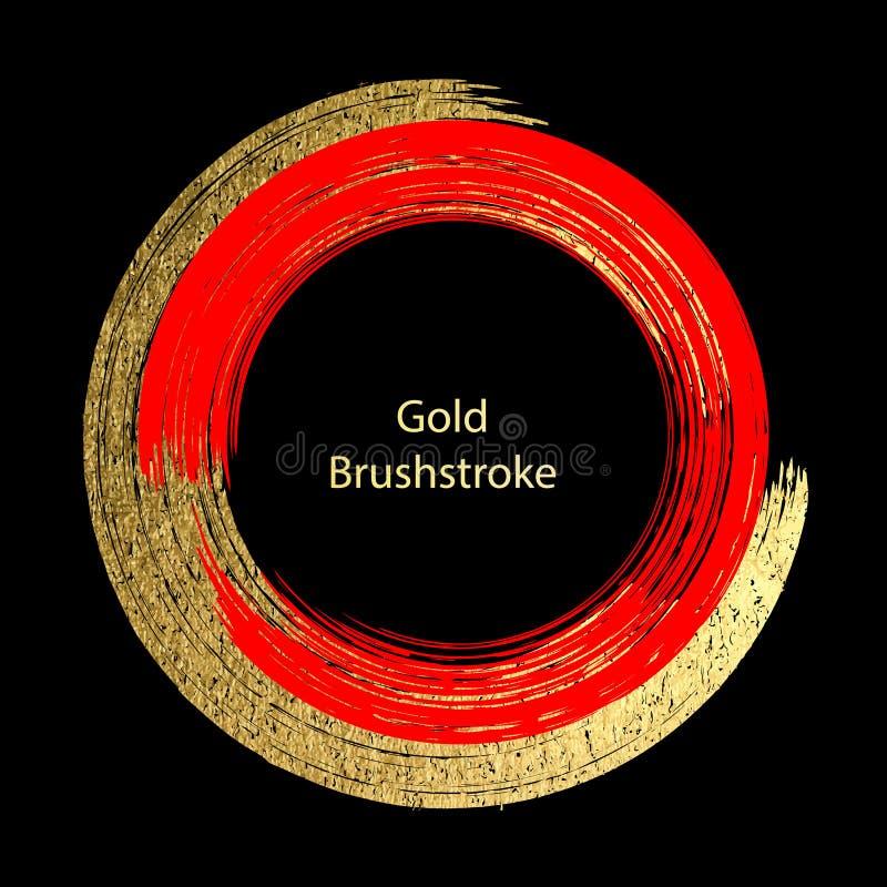 Красный цвет вектора и brushstroke золота Шаблоны дизайна для брошюр, бесплатная иллюстрация