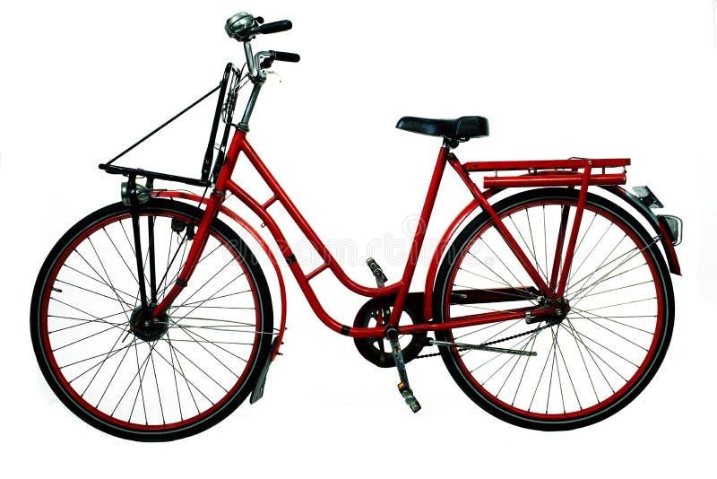 красный цвет велосипеда старый стоковая фотография rf