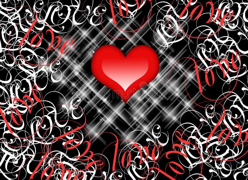 красный цвет влюбленности сердца иллюстрация вектора