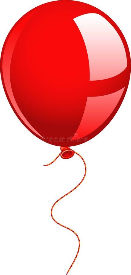 красный цвет воздушного шара иллюстрация вектора
