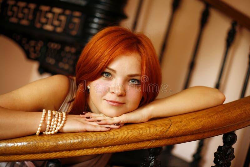 красный цвет волос стоковое изображение rf