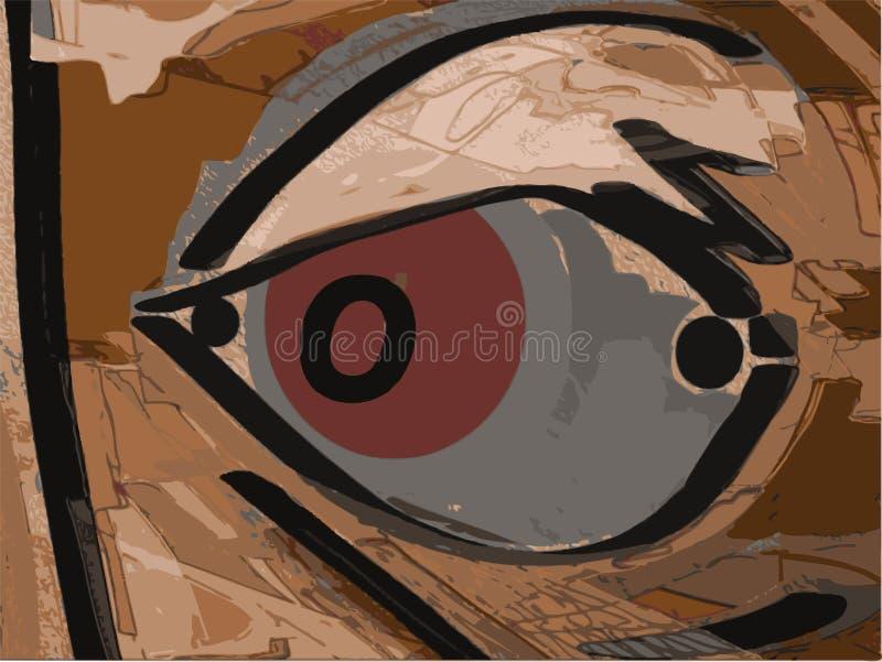 красный цвет глаза иллюстрация вектора