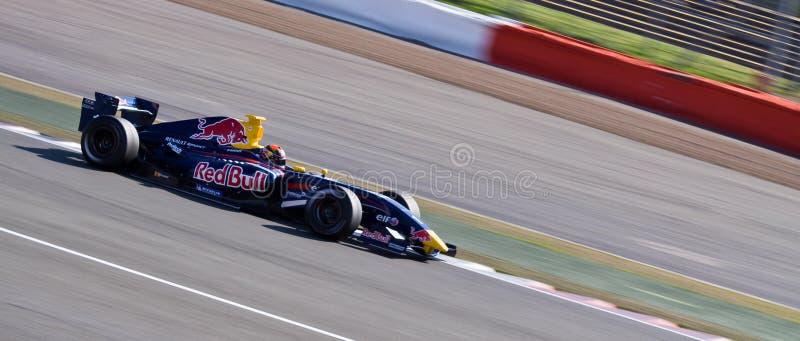 красный цвет гонки автомобиля быка стоковое фото