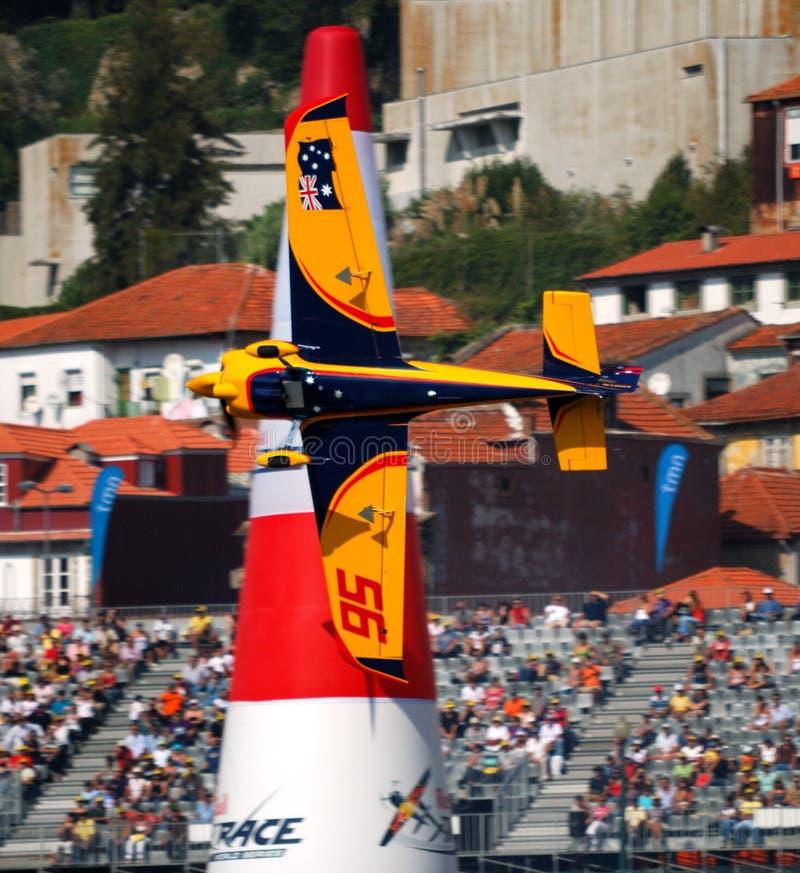 красный цвет гонки porto залы быка воздуха 2009 матовый стоковое фото