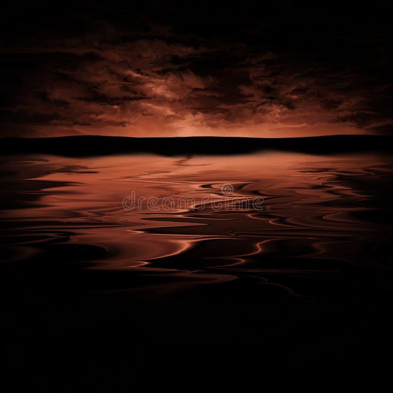 красный цвет горизонта иллюстрация штока