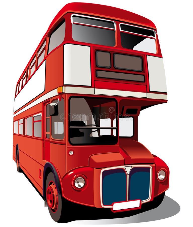 красный цвет двойника decker шины иллюстрация вектора