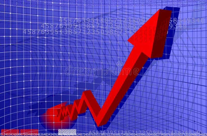 красный цвет диаграммы стрелки бесплатная иллюстрация
