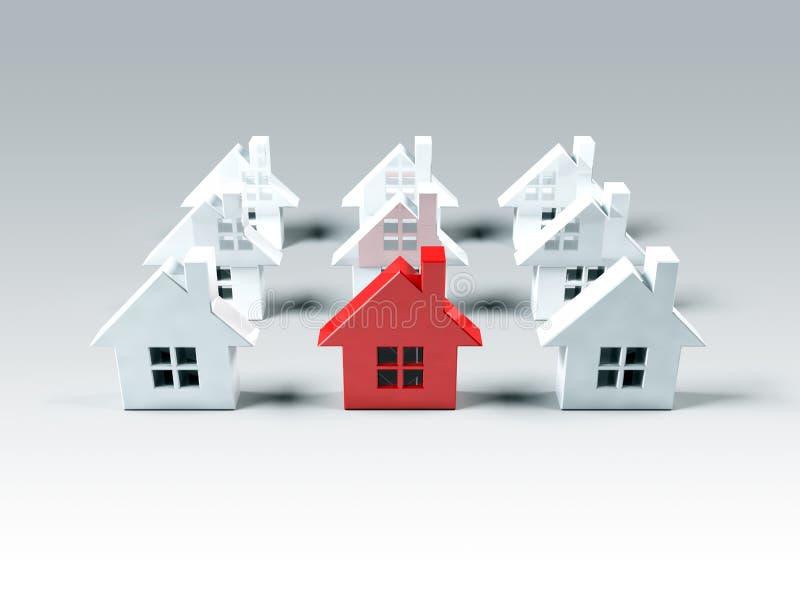 красный цвет дома бесплатная иллюстрация