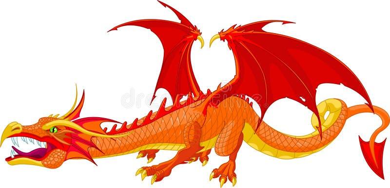 красный цвет дракона бесплатная иллюстрация