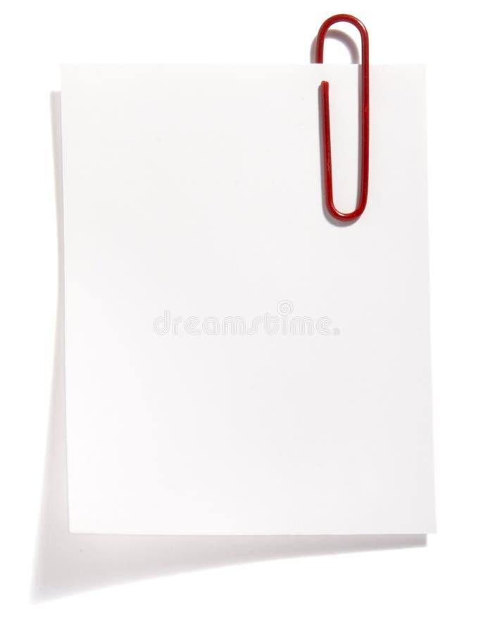 красный цвет зажима бумажный стоковая фотография