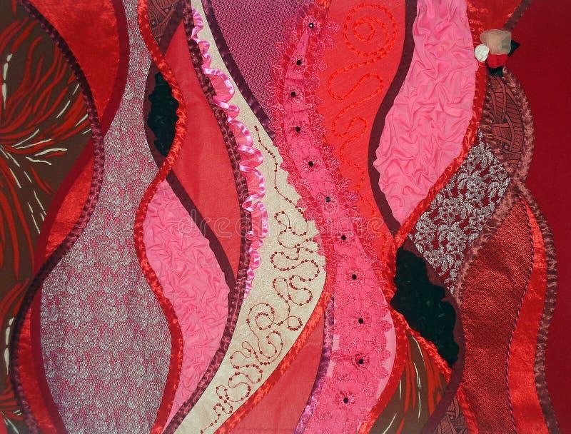 красный цвет заплатки фантазии стоковые фото