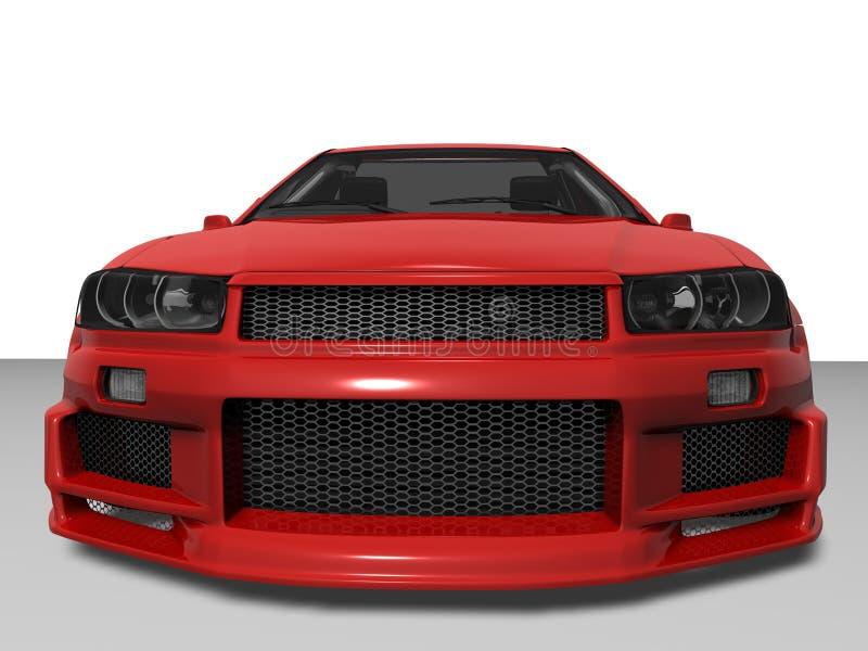 красный цвет зверя иллюстрация вектора