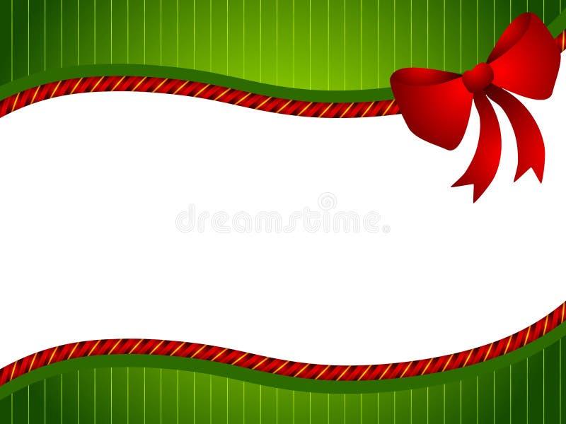 красный цвет зеленого цвета рождества смычка иллюстрация штока