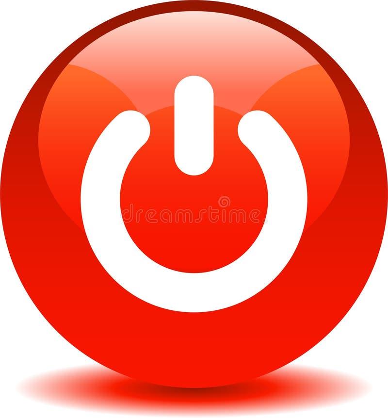 Красный цвет значка сети кнопки силы бесплатная иллюстрация