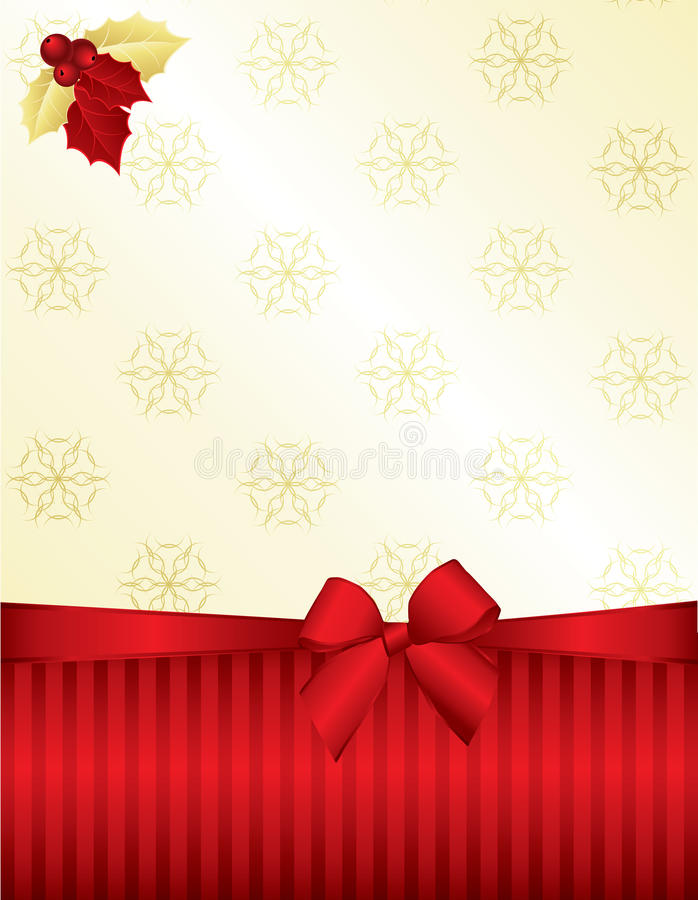 красный цвет золота рождества предпосылки иллюстрация вектора