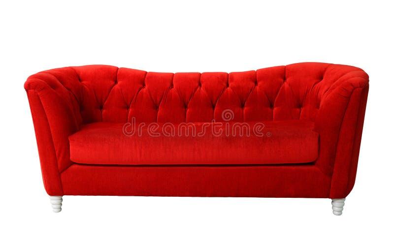 красный цвет изолированный мебелью стоковые изображения rf