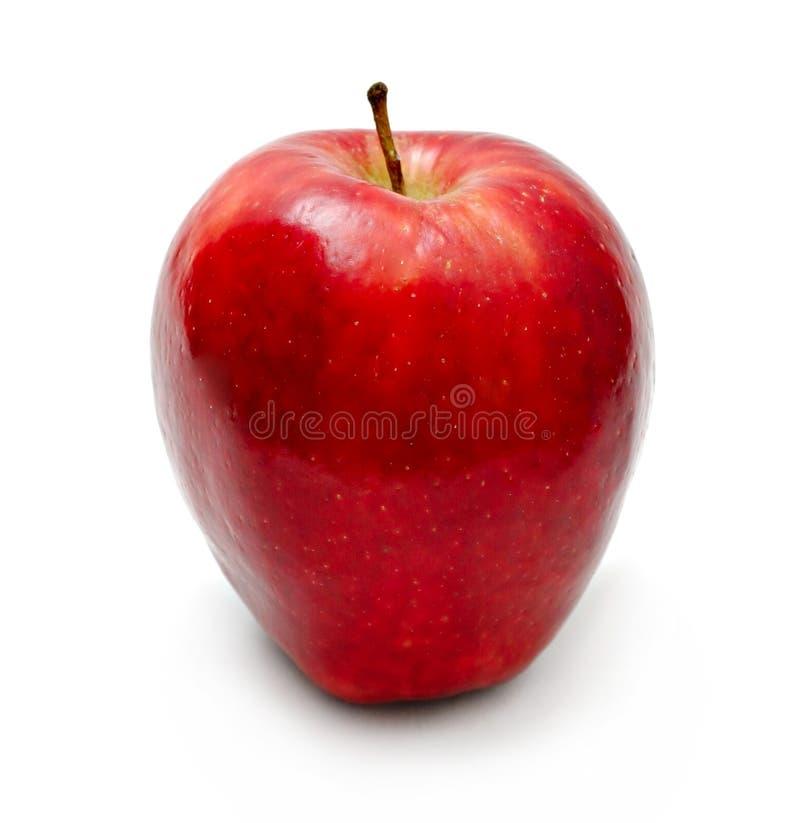 красный цвет изолированный яблоком стоковое изображение rf