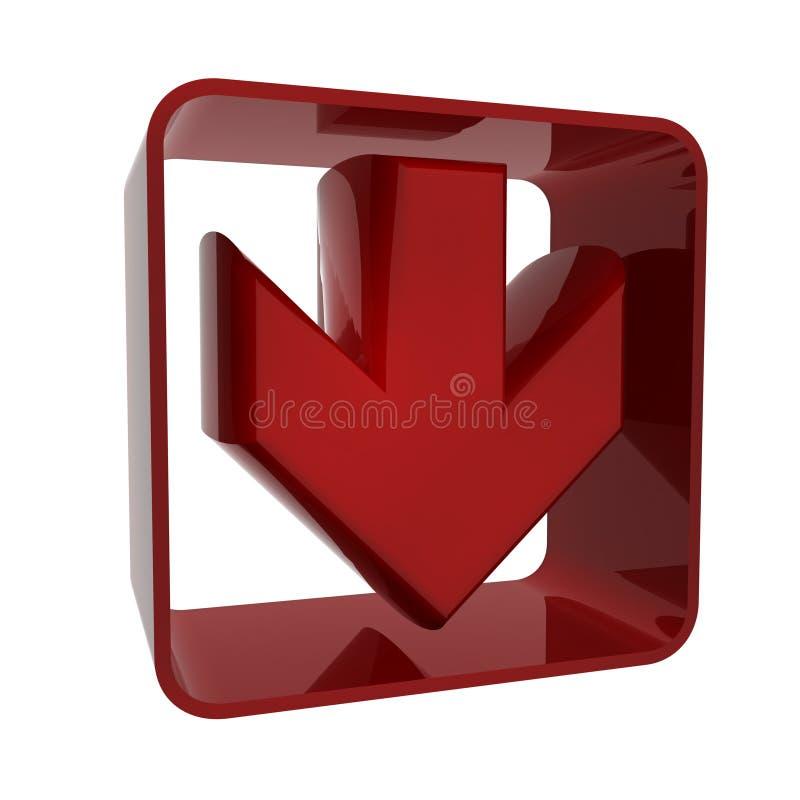 красный цвет иконы стрелки иллюстрация штока