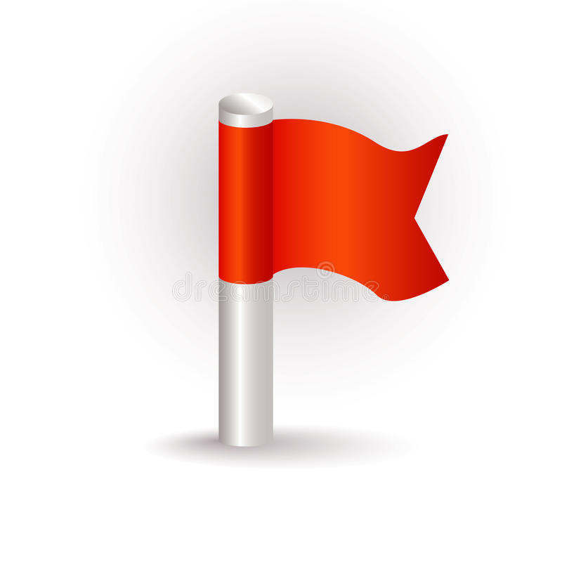 красный цвет иконы флага бесплатная иллюстрация