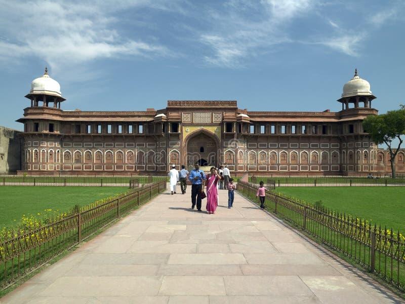 красный цвет Индии форта agra стоковые фото