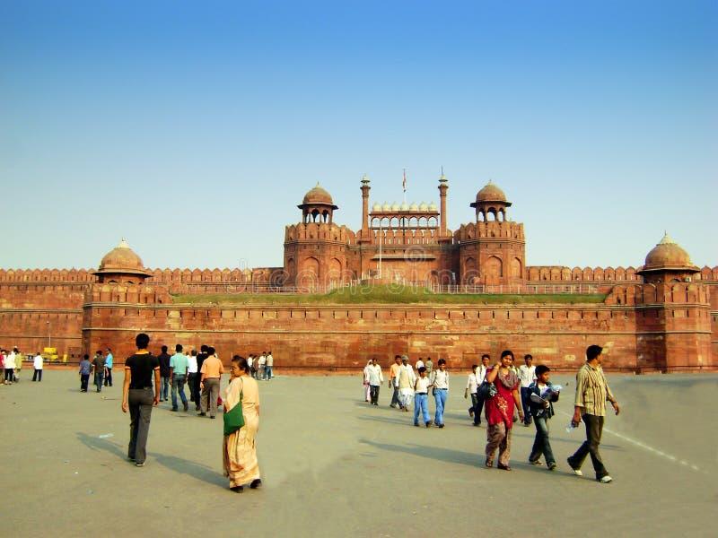 красный цвет Индии форта delhi новый стоковые фото