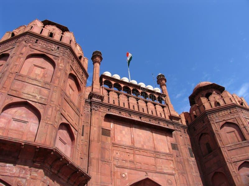 Download красный цвет Индии форта Delhi Стоковое Изображение - изображение насчитывающей наведенное, наводить: 1176793