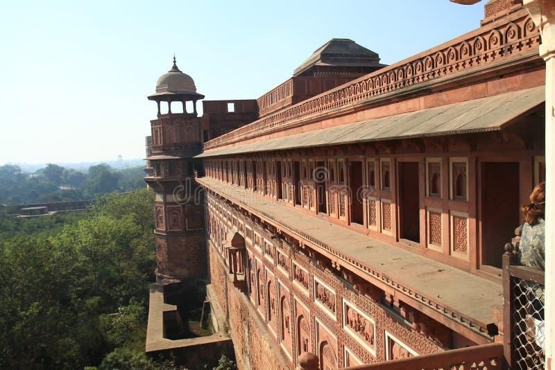 красный цвет Индии форта delhi стоковая фотография rf