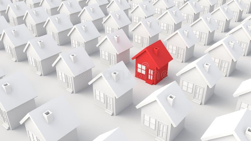 Красный цвет и Белый Дом бесплатная иллюстрация