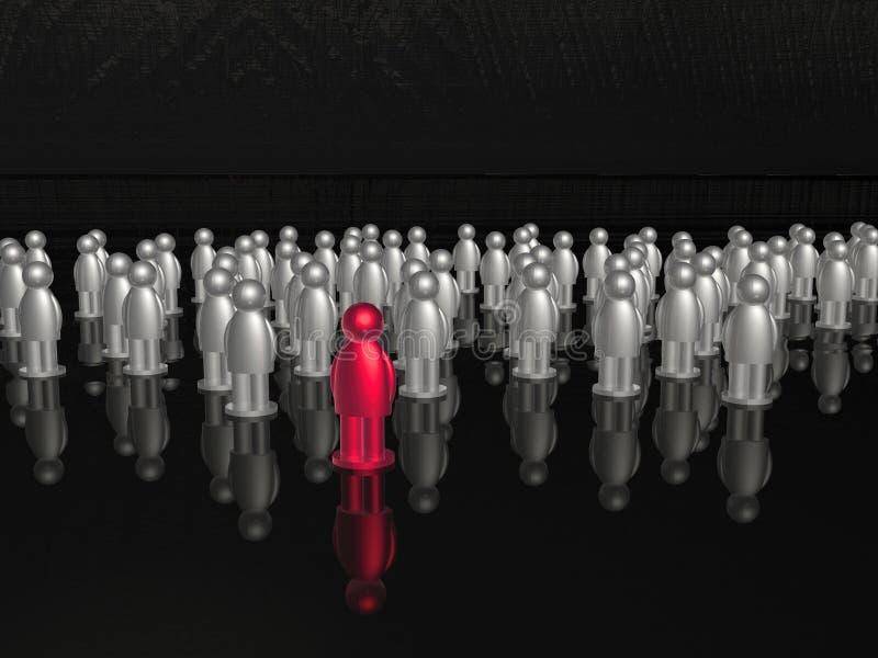 Красный цвет и серый цвет укомплектовывают личным составом иллюстрация штока