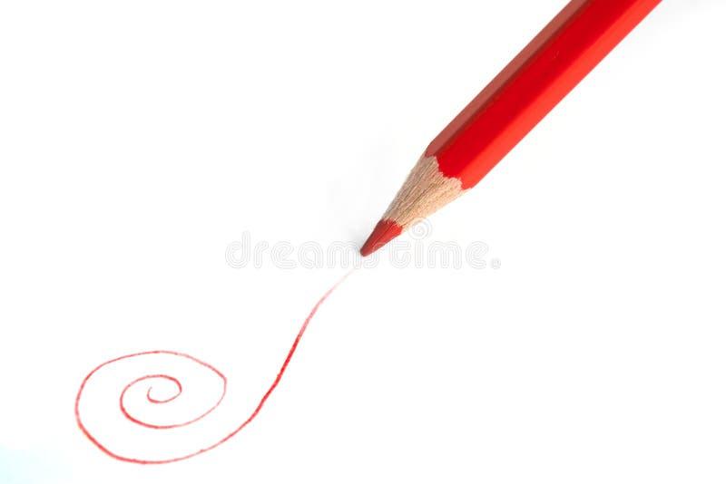красный цвет карандаша стоковые фото