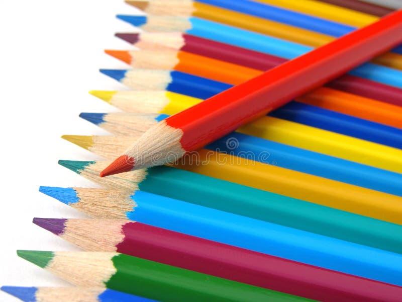 красный цвет карандаша стоковые фотографии rf
