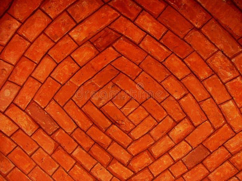 красный цвет кирпичей Стоковые Фотографии RF