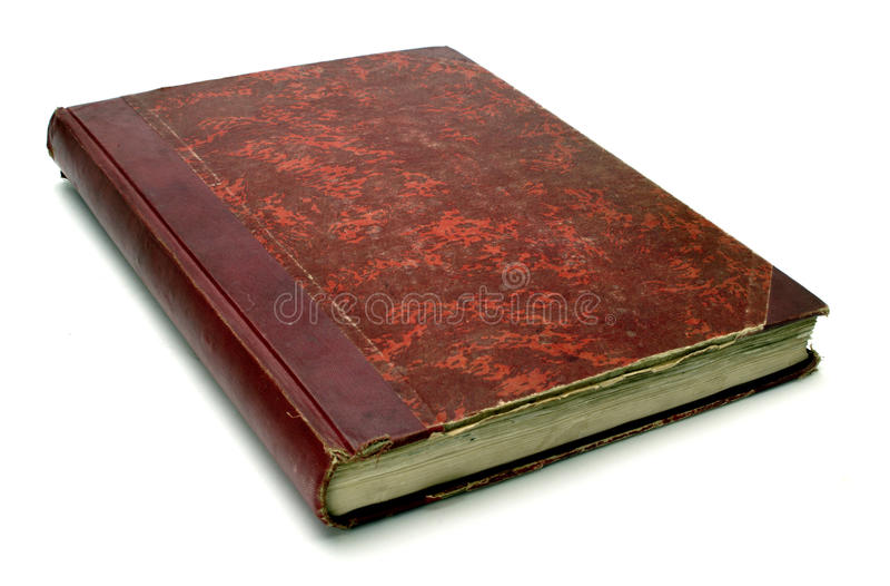красный цвет книги старый стоковые изображения