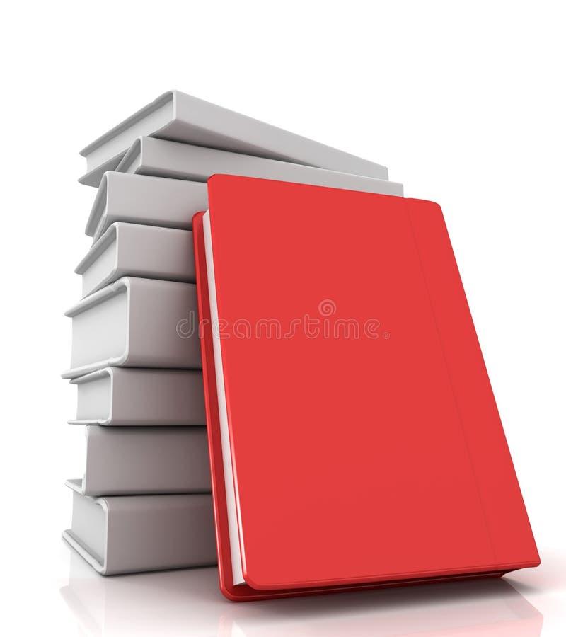 красный цвет книги иллюстрация вектора