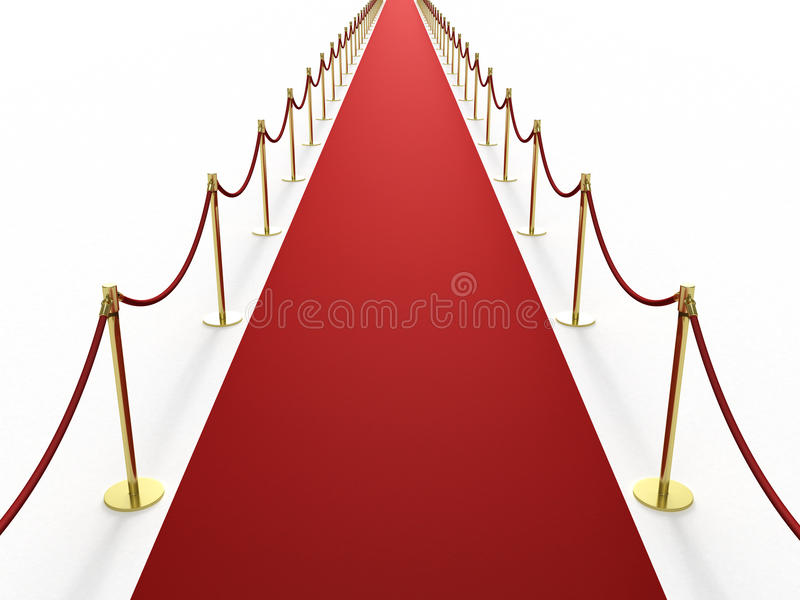 красный цвет ковра инфинитно длиной бесплатная иллюстрация