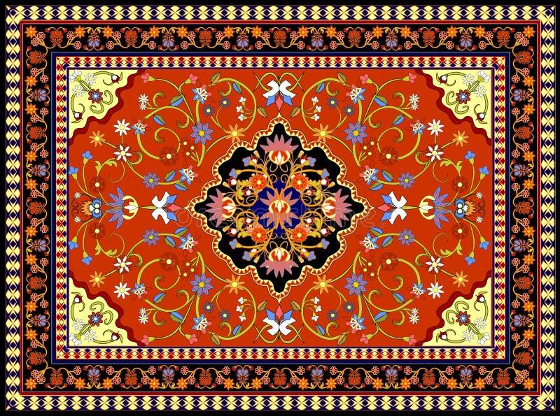 красный цвет ковра иллюстрация штока