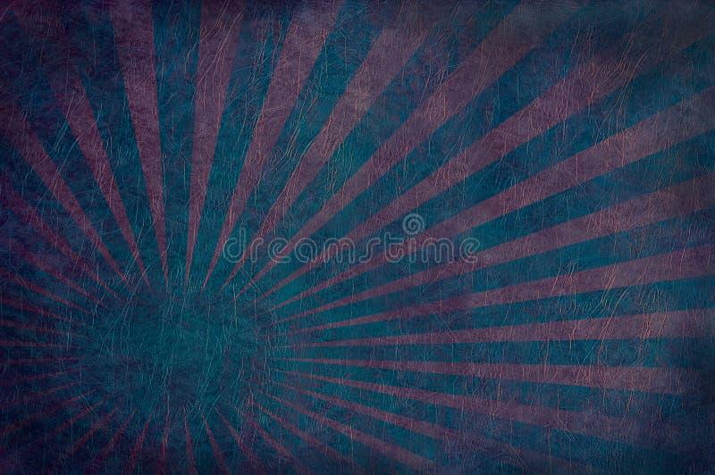 красный цвет кожи взрыва сини иллюстрация вектора